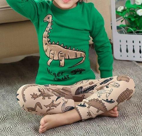 Пижама для мальчика, детская пижама, динозавр
