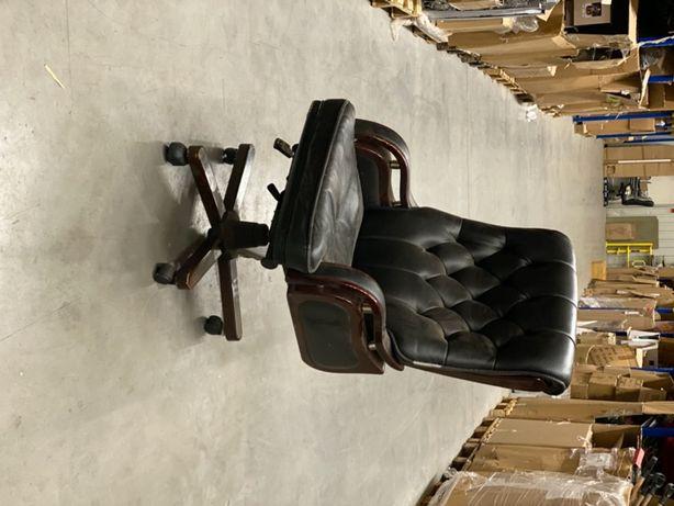 Fotel biurowy stylowy skórzany