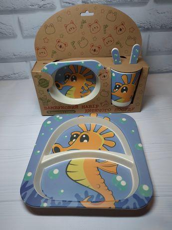 Детская бамбуковая посуда набор бамбуковой посуды для детей