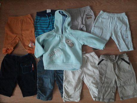 spodnie dresowe dżinsy sztruksowe bluza 56/62 0-3 msc