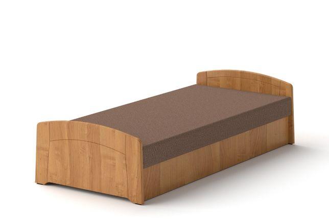 Łóżko M 90 x 200 Olcha tapczan z materacem