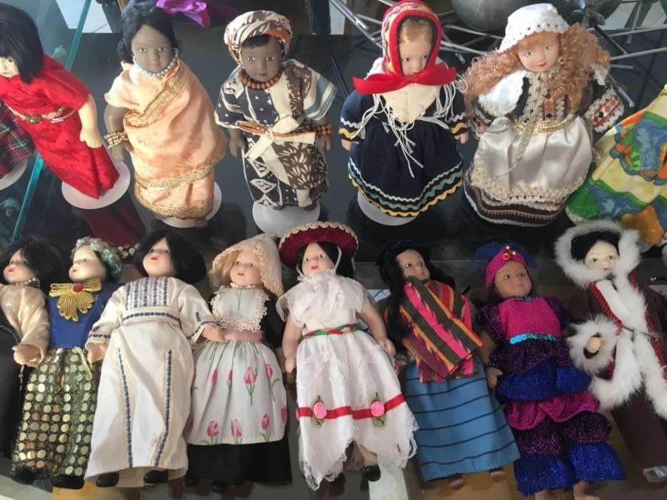 Bonecas de porcelana de vários países