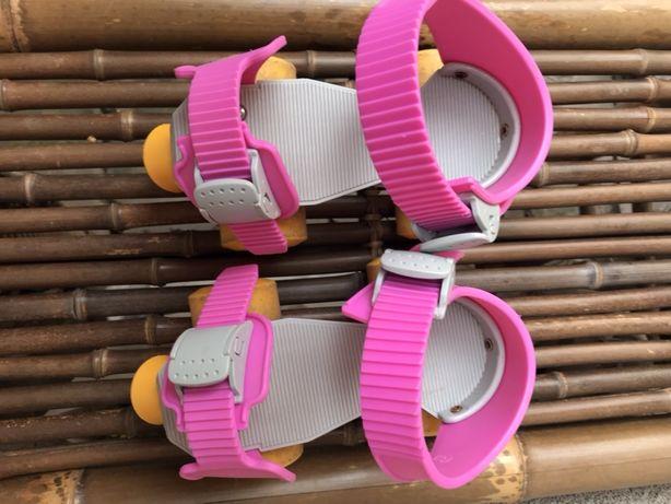 Ролики детские 4-х колесные на обувь регулируемые GIOCA 16-21 см