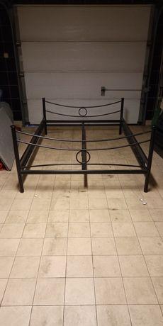 Łóżko metalowe składane