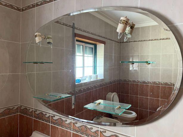 WC completo (sanitários, móvel e espelho )