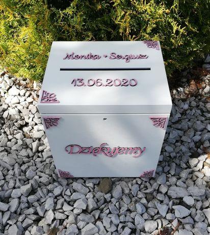 Pudełko na koperty i pudełko na obrączki