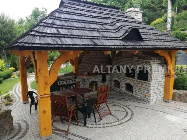 EKSKLUZYWNA Altana Altanka Premium Grill Wędzarnia Gont Drewniany