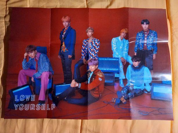 Kpop BTS - Love Yourself: Answer Poster + Autocolantes (com portes)