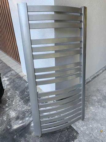 Grzejnik łazienkowy ENIX 57 x 115 cm, stalowo-szary, przył. dolne