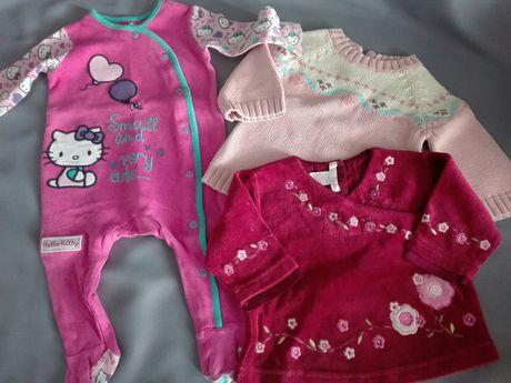 Ubranka zestaw dla dziewczynki 62cm.0/3m H&M i inne