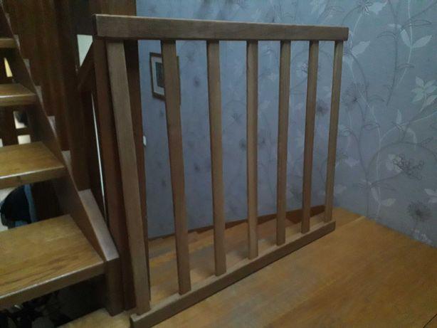Barierki dębowe 91 x 80 cm 2 szt blokada schody