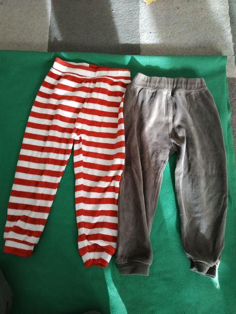 Ciepłe spodnie welurowe