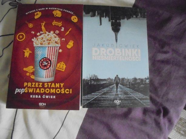 Jakub Ćwieka dwie książki, nowe, Drobinku i Przez stany...