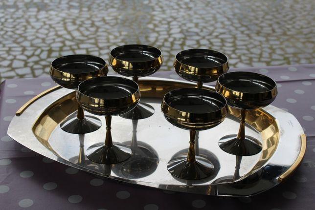 Taças sobremesa e tabuleiro em inox GOTTINGHEN 18-10 (novo preço)