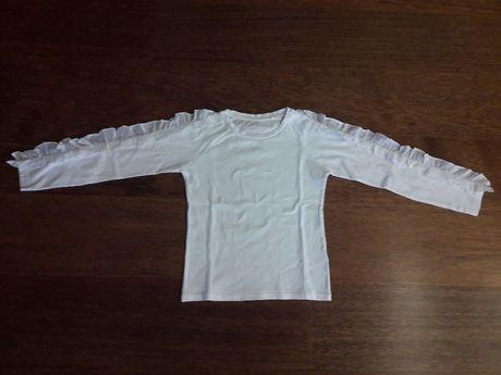Koszulka dziewczęca biała Reserved r.128.