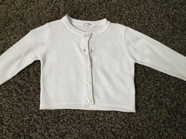 Sweterek coccodrillo biały 80