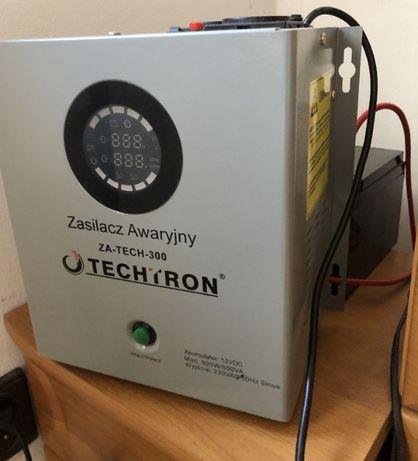 Zasilacz awaryjny 300W/500VA ZA-TECH-300 TECHTRON + Akumulator AGM VP