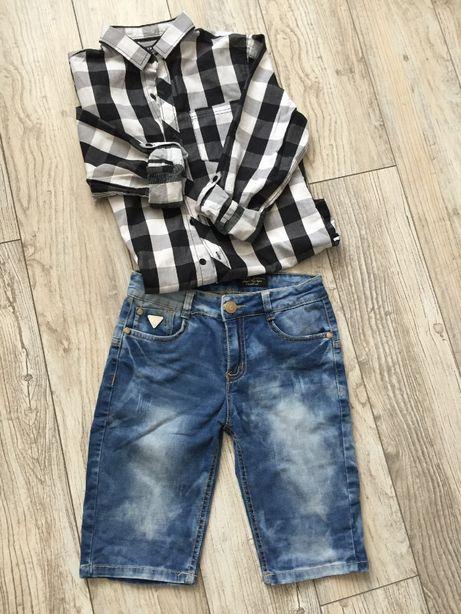 Spodnie krótkie jeansowe r.
