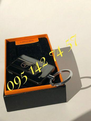 Брелок зажигалка USB с значком MERSEDES