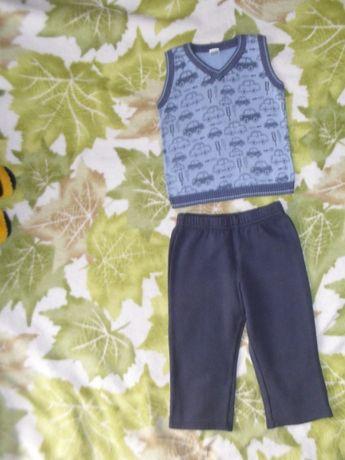 2-4 г жилетка штаны с начесом костюм