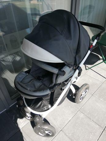 Wózek TUTEK Grander Play Eco (3w1) - ciemnoszaro-szaro-biały