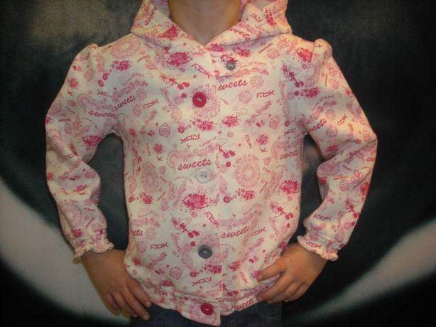 Bluza, długi rękaw REEBOK kapturek rozmiar 90