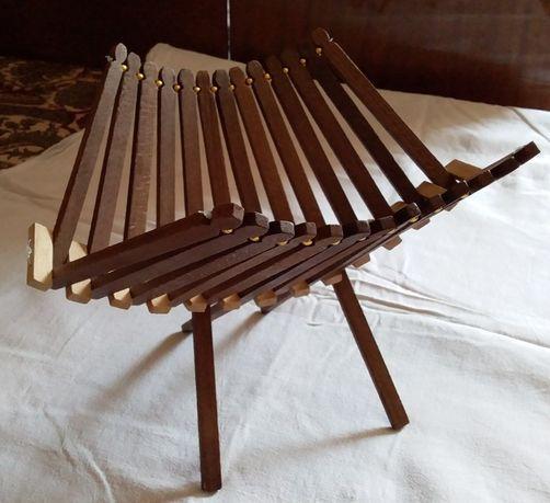 Вазочка декоративная деревянная