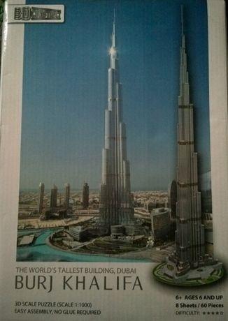 3д пазл/3D puzzle Башня Бурдж Халифа (Burj Khalifa). ОАЭ. Новый.