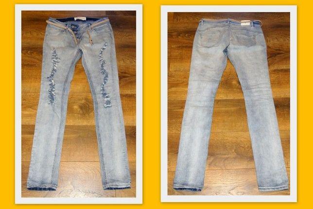 Spodnie damskie jeans z dziurami rozmiar 40 Blue Rags na lato
