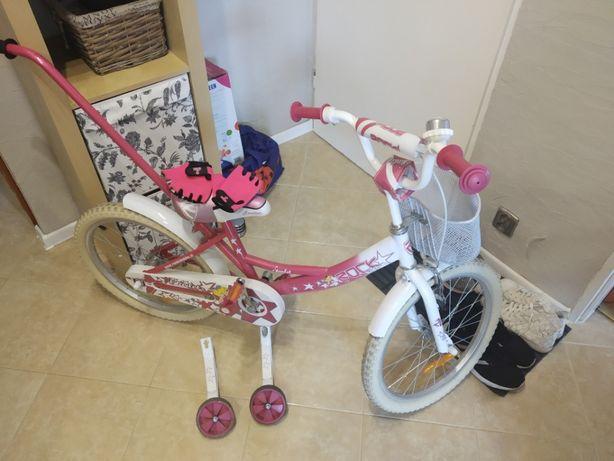 Śliczny różowy rower dla dziewczynki Rock Starlet 20
