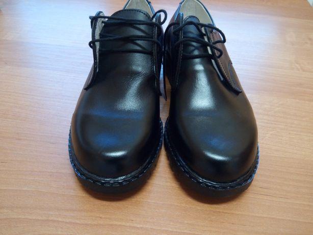 Pantofle, półbuty skórzane rozmiar 24,5