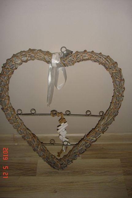 Serce wiklinowe dekoracja ozdoba