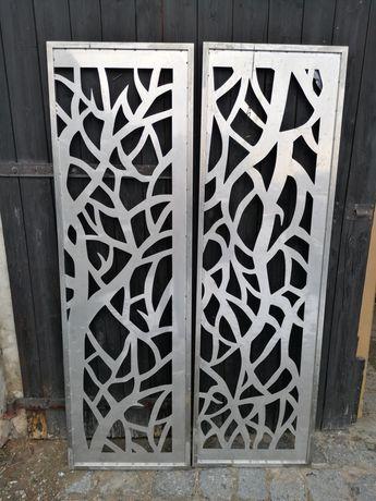 Drzwi Ażurowe Dwuskrzydłowe Nierdzewne