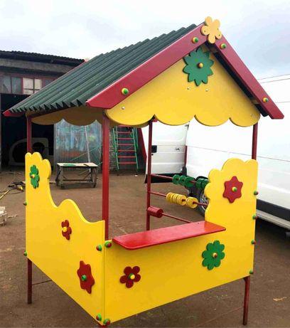 Дитячий ігровий будиночок (дитячі майданчики, качелі, пісочниці)