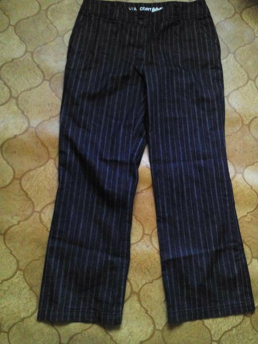 Прямые черные джинсы в полоску р.22 Чернігів - зображення 1