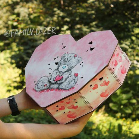 ОПТ подарочные коробки/для подарков Love is сердце подарнкова упаковка