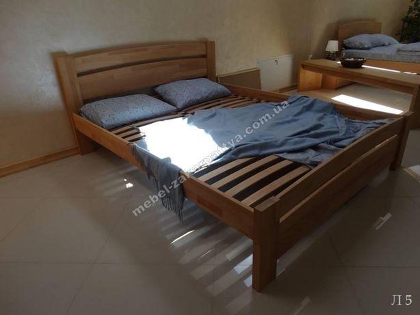 Ліжко деревяне массив 90,120,140,160,180х200. Кровать двуспальная.