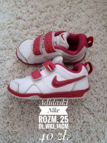 Adidaski dla dziewczynki Nike rozm. 25 stan idealny.