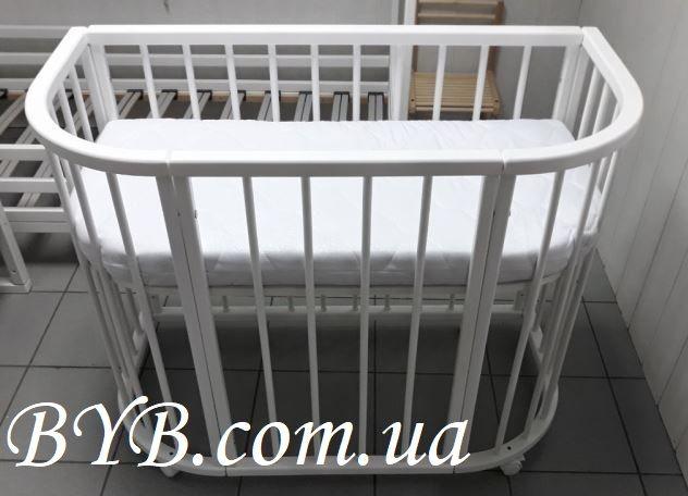 Овальная/приставная детская кроватка-трансформер 5 в 1