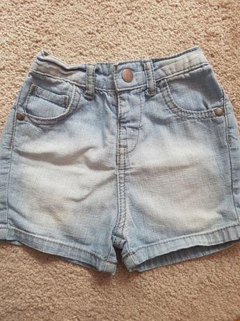 Spodenki jeansowe r. 6-9 msc