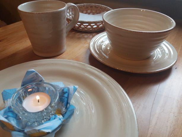 Посуд гарний в еко стилі 25 наборів