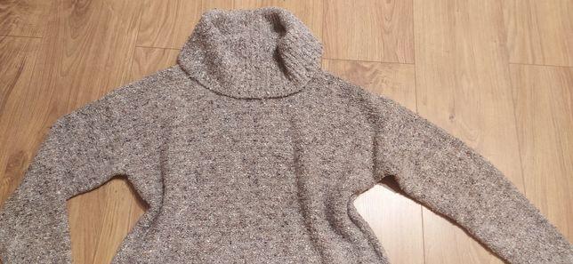 Szary swetet sweterek golf Papaya s/m