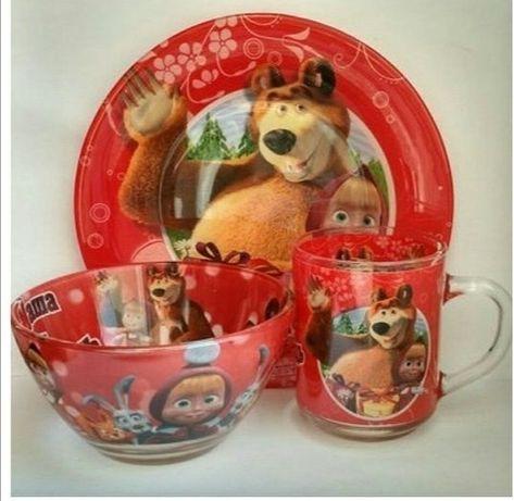 Набор посуды Маша и медведь