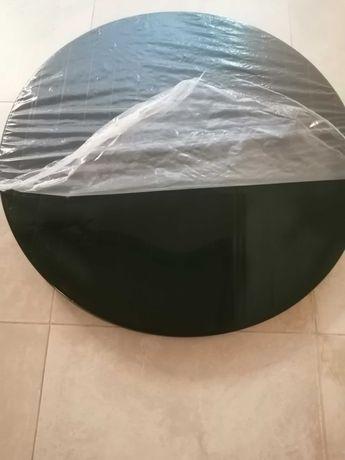 Mesa de plastico  redonda 90 cm, verde escuro