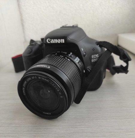Canon 600d + Объектив 18-55 + Карта памяти 16Гб + сумка