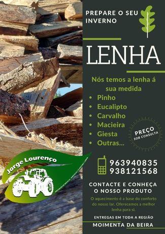 Lenha de Eucalipto, Pinho, Carvalho, etc.