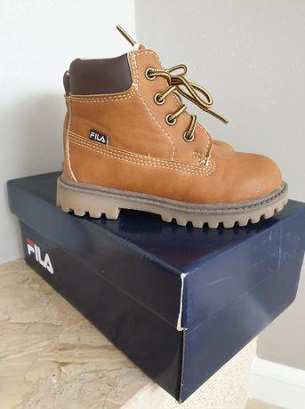 PIĘKNE zimowe buty Fila, ocieplane, raz ubrane!! Rozm. 24 - 16cm
