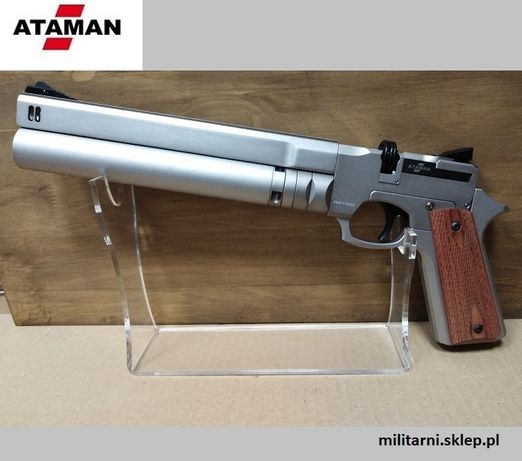 Wiatrówka Pistolet PCP ATAMAN AP16 – Grafit – 4,5mm.+ tłumik