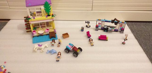Lego friends klocki 2 zestawy  domek na plaży  41037 i 41103