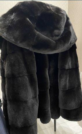 Норковая шуба норка автоледи полушубок с капюшоном норка blackglama
